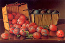 Basket of Plums on a Tabletop - Levi Wells Prentice