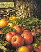 Apples and Tree Trunk 1891 - Levi Wells Prentice