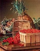 Still Life with Pineapple and a Basket of Currants - Levi Wells Prentice