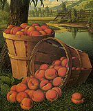 Bushels of Peaches Under a Tree - Levi Wells Prentice