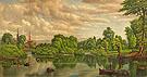 Fishing on The Chenango River Near Sherburne New York c1875 - Levi Wells Prentice