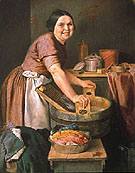 The Jolly Washerwoman 1851 - Lilly Martin Spencer