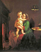 Mother and Child by The Hearth - Lilly Martin Spencer