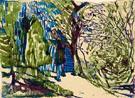 Neige a Ballaigues Les Vieillards en Bleu c1923 - Louis Soutter