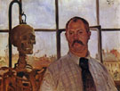 Self Portrait with Skeleton 1896 - Lovis Corinth