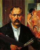Self Portrait without Collar 1901 - Lovis Corinth