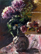 Chrysanthemums and Roses in a Jug 1917 - Lovis Corinth