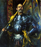 Self Portrait as Standard Bearer 1911 - Lovis Corinth