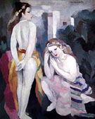 Two Young Girls in a Landscape - Marie Laurencin