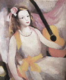 The Girl with Guitar - Marie Laurencin