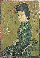 Eva Meurier in a Green Dress 1891 - Maurice Denis