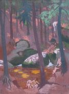 Rochers et Mare au Huelgoat c1928 - Maurice Denis
