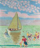 Plage Au Yacht 1938 - Maurice Denis