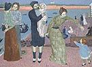 Les Parisiens au Bord de la Mer Soir 1899 - Maurice Denis