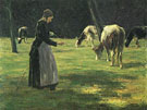 At The Cow Shepherd - Max Liebermann