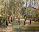 The Birch Lined Avenue in The Wannsee Garden Facing West - Max Liebermann