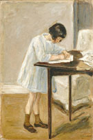The Granddaughter Writing 1923 - Max Liebermann