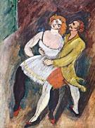 Two Dancer Russian Ballet c1909 - Max Weber