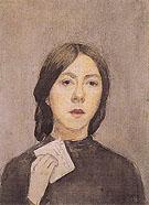 Autoportrait a la Lettre 1907 - Gwen John