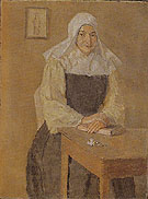 Mere Poussepin Seated at a Table 1915 - Gwen John