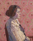 A Portrait in Profile Mary Harold Gilman 1914 - Harold Gilman
