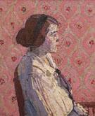A Portrait in Profile Mary Harold Gilman 1914 - Harold Gilman