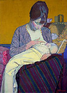 Mother and Child 1918 - Harold Gilman