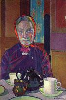 Mrs Mounter at The Breakfast Table 1917 - Harold Gilman
