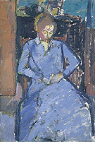 The Blue Dress Sylvia Gilman 1917 - Harold Gilman
