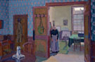 Interior with Mrs Mounter c1916 - Harold Gilman