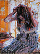 Girl Combing Her Hair - Harold Gilman
