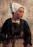 Brittainy Girl 1883 - Helene Schjerfbeck