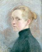 Self Portrait 1885 - Helene Schjerfbeck