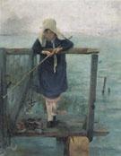 Angling Girl 1884 - Helene Schjerfbeck
