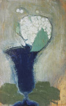 Lilies of The Valley in a Blue Vase 1929 - Helene Schjerfbeck