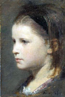 Head of a Young Girl - Henri Fantin Latour