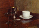Still Life Glass Silver Goblet and Cup of Champagne - Henri Fantin Latour