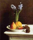 Still Life Hyacinths and Fruit 1865 - Henri Fantin Latour