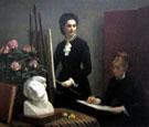 Drawing Lesson in The Workshop 1879 - Henri Fantin Latour