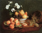 Flowers & Fruit on a Table 1865 - Henri Fantin Latour