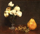 Still Life with Roses and Fruit - Henri Fantin Latour