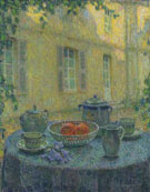 The Blue Tablecloth at Gerberoy 1925 - Henri Le Sidaner