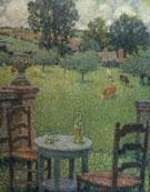 Garden at Gerberoy 1917 - Henri Le Sidaner