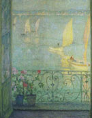 The Window at Croisic 1915 - Henri Le Sidaner