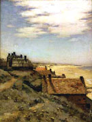 Rooftops Coast of Normandy - Jean Charles Cazin