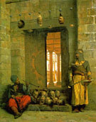 Heads of The Rebel Beys at The Mosque of El Hasanein 1866 - Jean Leon Gerome