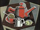 Cafetiere et Tasse Rouges 1950 - Jean Metzinger