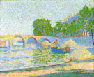 Barges on The Banks of The Seine - Jean Metzinger