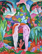 Bathers Two Nudes in an Exotic Landscape - Jean Metzinger