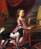 Young Lady with a Bird and Dog 1767 - John Singleton Copley